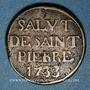 Monnaies Valenciennes. Maîtrise de la Chapelle Saint-Pierre. Méreau 1733
