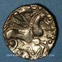 Monnaies Aulerques Eburovices (2e siècle - 1ère moitié du 1er siècle av. J-C). Hémistatère à la joue tatouée