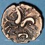 Monnaies Aulerques Eburovices (2e siècle - 1ère moitié du 1er siècle av. J-C). Hémistatère au sanglier
