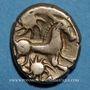 Monnaies Bellovaques (région de Beauvais). Statère, vers 60 - 30/25 av. J-C