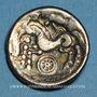 Monnaies Calètes. Pays de Caux. Hémistatère à la roue, 2e siècle av J-C