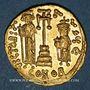 Monnaies Emp. byzantin. Constant II avec ses fils. Constantin IV, Héraclius et Tibère (659-668). Solidus