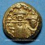 Monnaies Emp. byzantin. Constant II et son fils Constantin IV (654-659). Solidus globulaire frappé à Carthage