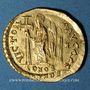 Monnaies Empire byzantin. Anastase (491-518). Solidus. Constantinople, 3e officine (491-498)