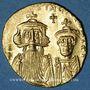 Monnaies Empire byzantin. Constant II et Constantin IV (654-59) Solidus. Constantinople, 10e officine, 654-59