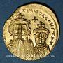 Monnaies Empire byzantin. Constant II et son fils Constantin IV (654-659). Solidus. Constantinople, 654-659