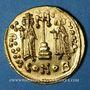 Monnaies Empire byzantin. Constantin IV (654-685). Solidus. Constantinople, 4e officine, 674-681