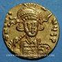 Monnaies Empire byzantin. Constantin IV avec ses frères Héraaclius et Tibère (668-81) Solidus. Constantinople