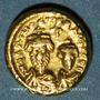 Monnaies Empire byzantin. Héraclius et son fils Héraclius Constantin (613-31). Solidus. Carthage, 621-622
