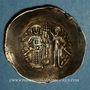 Monnaies Empire byzantin. Manuel I Comnène (1143-1180). Aspron trachy d'electrum. Constantinople, 1160-1164