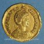 Monnaies Empire romain d'Occident. Galla Placidia, épouse de Constance III († 450). Solidus. Ravenne, 440-445