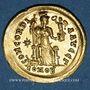 Monnaies Empire romain d'Occident. Honorius (393-423). Solidus, Constantinople, 3e officine, 408-420