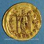 Monnaies Empire romain d'Orient. Basiliscus (475-476). Solidus. Constantinople