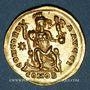 Monnaies Empire romain d'Orient. Théodose II (408-450). Solidus. Constantinople, 10e officine, 408-420