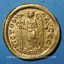 Monnaies Empire romain d'Orient. Zénon (474-491). Solidus, Constantinople, 4e officine, 476-491
