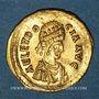 Monnaies Eudocie, épouse de Théodose II (+460). Trémissis. Constantinople, 430