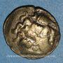 Monnaies Helvètes (2e siècle av. J-C). 1/4 statère à la croisette