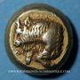 Monnaies Ile de Lesbos. Mytilène. Hecté en électrum (= 1/6 statère), 521-478 av. J-C