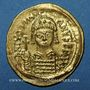 Monnaies Justinien I (527-565). Solidus. Carthage, 540-552. Indiction (?) 3 en fin de légende du revers