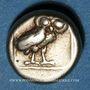 Monnaies Lesbos. Mytilène. Mytilène. Hecté (= 1/6 de statère), 377-326 av. J-C