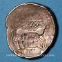 Monnaies Leuques (région de Toul). Statère au cheval regardant en arrière, 2e siècle av. J-C