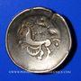 Monnaies Leuques (région de Toul). Statère au croissant, fin du 2e - début du 1er siècle av. J-C