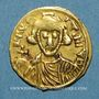 Monnaies Lombards. Bénévent. Romuald II (706-731). Trémissis au nom de Justinien