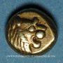 Monnaies Royaume de Lydie. Epoque de Alyattes II à Kroisos, 610-546 av. J-C. Hemihecté d'electrum
