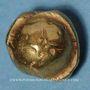 Monnaies Sénones (région de Sens) (vers 100-80 av. J-C). Statère globulaire à la croix