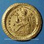 Monnaies Théodose II (402-450). Solidus. Constantinople, 443-450