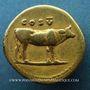 Monnaies Titus, césar sous Vespasien (69-79). Aureus. Rome, 76. R/: COS V. Vache à droite