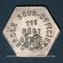Monnaies 11e Génie. Mess. Strasbourg (67). 25 centimes
