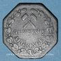 Monnaies Algrange (57). Gemeinde Algringen (Municipalité d'Algrange). 10 pfennig. Inédit !