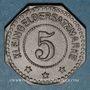 Monnaies Algrange (57). Gemeinde Algringen (Municipalité d'Algrange). 5 pfennig