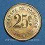 Monnaies Amiens (80). Chambre de Commerce. 25 centimes 1922