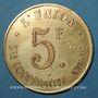 Monnaies Amiens (80). Société Coopérative l'Union. 5 francs