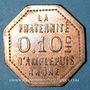 Monnaies Amplepuis (69). La Fraternité - Société Coopérative. 10 centimes