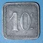 Monnaies Angoulême (16). S. C. P. (Société Coopérative de la Poudrerie). 10 centimes