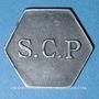 Monnaies Angoulême (16). S. C. P. (Société Coopérative de la Poudrerie). 25 centimes