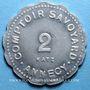 Monnaies Annecy (74). Comptoir Savoyard. 2 francs