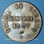 Monnaies Arles (13). Usine de Giraud - H. Merle & Cie. 1 franc