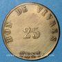 Monnaies Arles (13). Usine de Giraud - H. Merle & Cie. 25 centimes