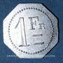 Monnaies Artillerie. 112e RALD. Mess des Sous-Officiers. Angoulême. 1 franc