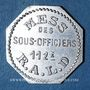 Monnaies Artillerie. 112e RALD. Mess des Sous-Officiers. Angoulême. 50 centimes