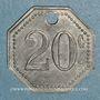 Monnaies Artillerie. 56e R.A.C., Mess des Sous-Officiers. Montpellier, Castres. 20 cmes