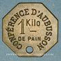 Monnaies Aubusson (23). Conférence d'Aubusson. 1 kg pain