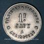Monnaies Audincourt (25). Filatures et Tissages Japy. 1 franc