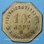 Monnaies Audincourt (25). Filatures et Tissages Japy. 10 centimes