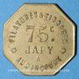 Monnaies Audincourt (25). Filatures et Tissages Japy. 75 centimes