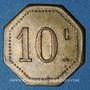 Monnaies Ay (51). U. C. M. (Union des Coopérateurs de la Marne). 10 centimes